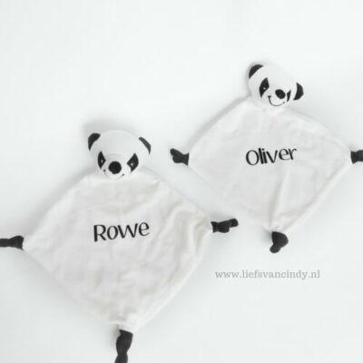panda knuffeldoekje met naam
