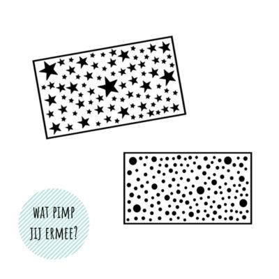 Sterren en stipjes DIY Stickers