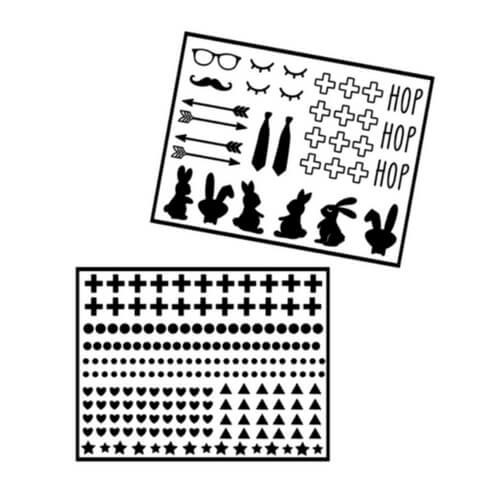 diy stickers paaseieren zwart wit Liefs van Cindy