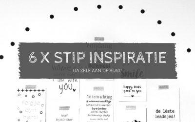 6x stippen inspiratie