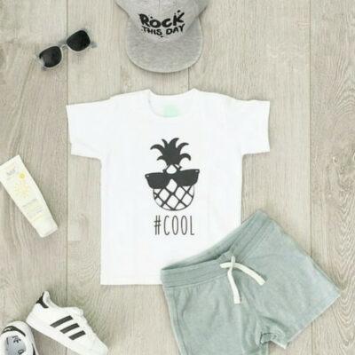 ananas cool kinderkleding zwart wit