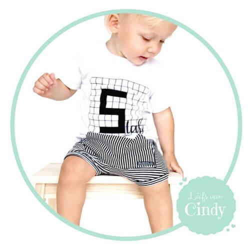 naamshirt ruitjes baby en kinderkleding