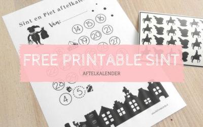 Free printble – aftelkalender Sinterklaas 2017