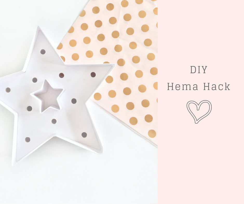 Lampje Hema hack - pimp een vorm of letter met een kleurtje