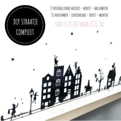 DIY straatje raam Sinterklaas