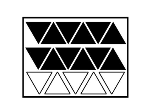 muurstickers driehoek open en dicht