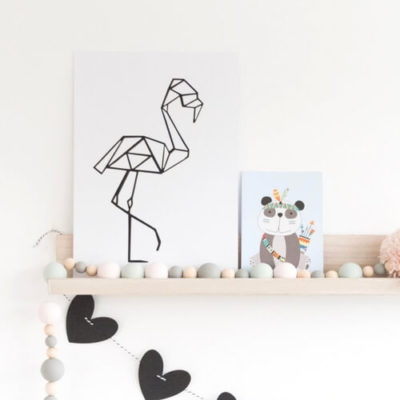 poster flamingo kinderkamer