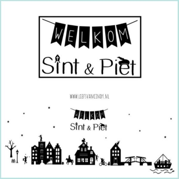 Welkom Sint en Piet raamsticker