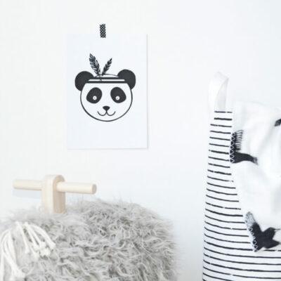monochrome poster panda