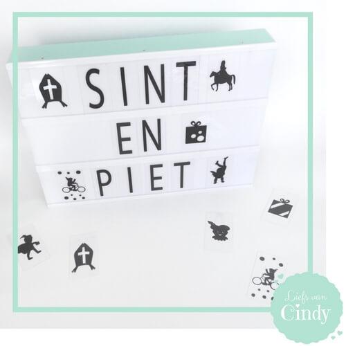Sint en Piet lightboxsymbolen