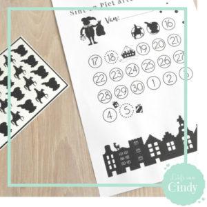Stickers voor aftelkalender