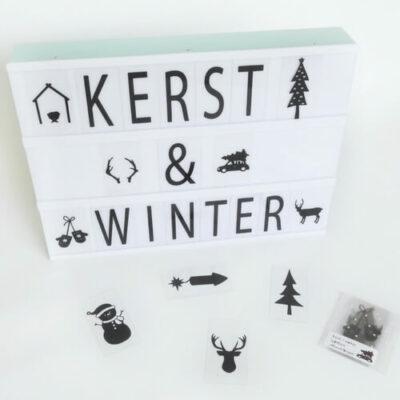 kerst en winter lightboxsymbolen
