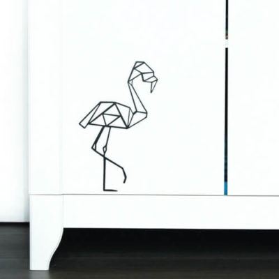 monochrome kinderkamer flamingo sticker