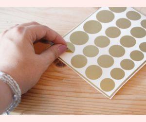 gouden stippen stickers