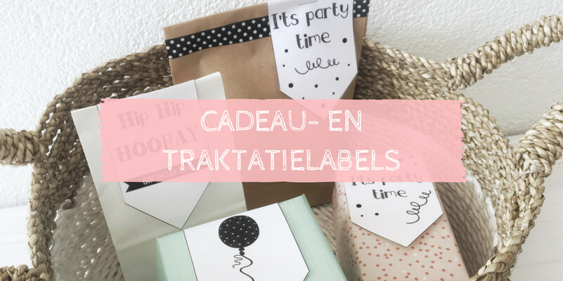 Cadeaulabels en traktatielabels gratis download