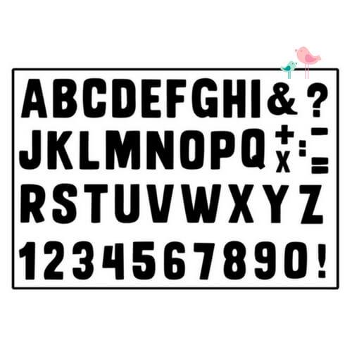 Muurstickers alfabet Liefs van Cindy