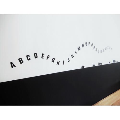 Muurstickers letters van het alfabet