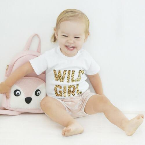 Wild girl tijger kinderkleding