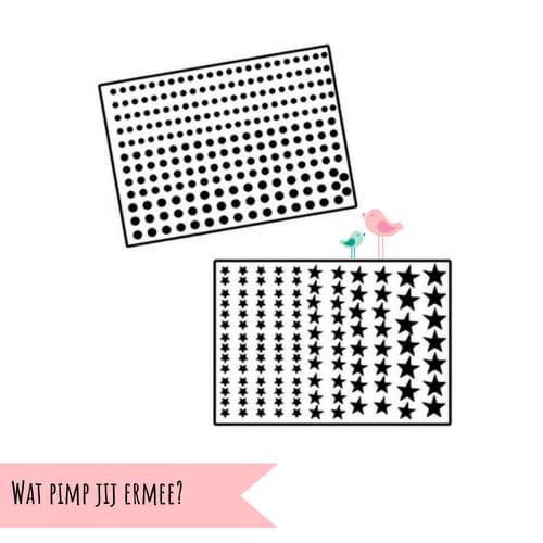 DIY stickers stipjes sterretjes