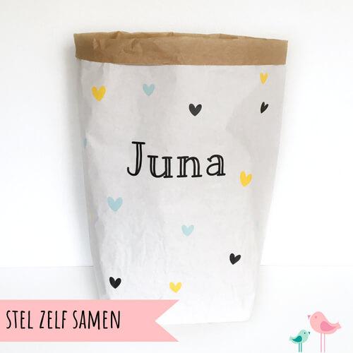 Paperbag DIY pakket met naam