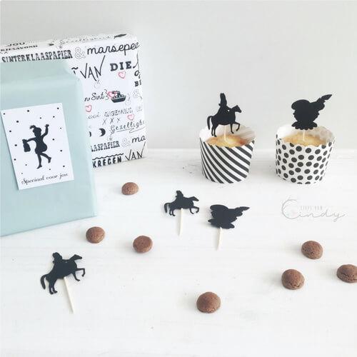 Sinterklaas cupcake prikkers