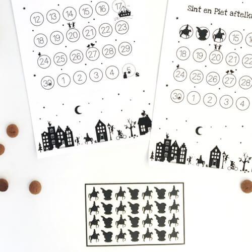 Bedwelming Zelf een aftelkalender maken / knutselen met kinderen voor &AK77
