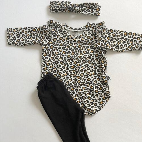Tijgerprint jurkje handmade