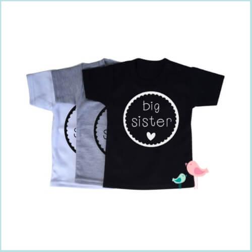 Shirt big sister aankondiging zwangerschap