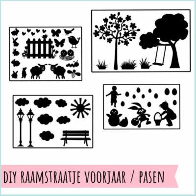 DIY raamstraatje sticker pasen voorjaar
