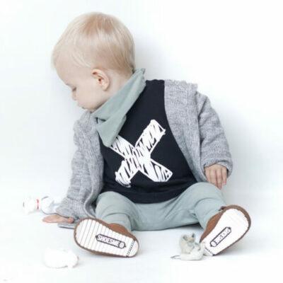 Hippe kinderkleding strijkapplicatie