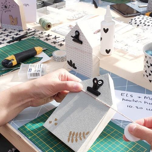 Houten huisjes stylen workshop