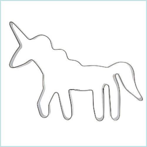 Koekjes uitsteekvorm eenhoorn unicorn traktatie