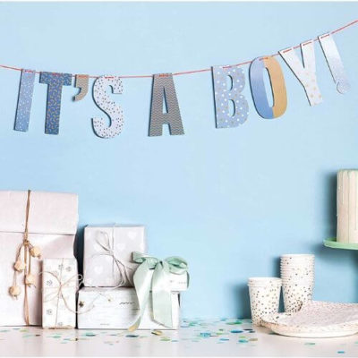 Slinger jongen geboren it's a boy