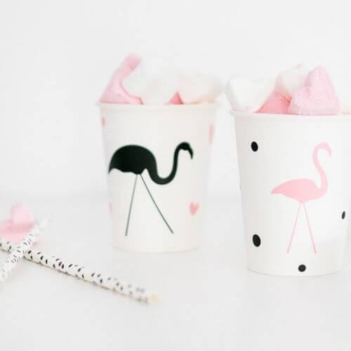 Traktatie Flamingo meisje zelfmaken