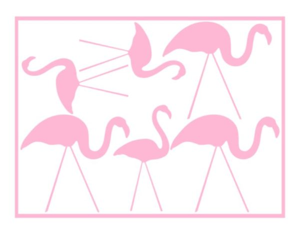 Flamingo stickervel