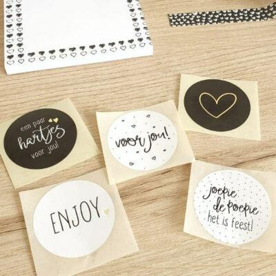 Stickers zwart wit