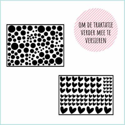 DIY stickertjes voor traktatie