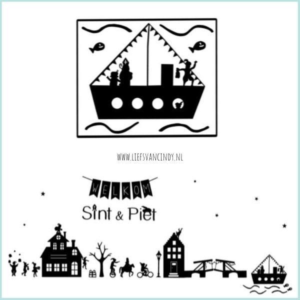 DIY Raamstraatje Sinterklaas Stoomboot