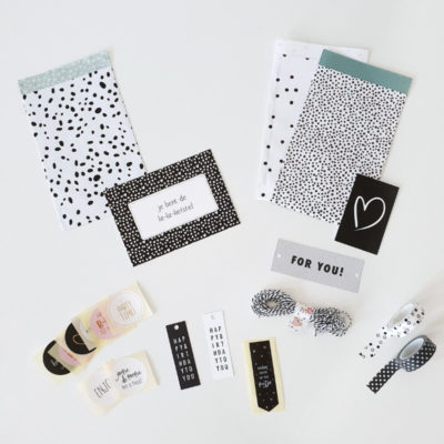 inpakzakjes, labels, stickers, washi pakket