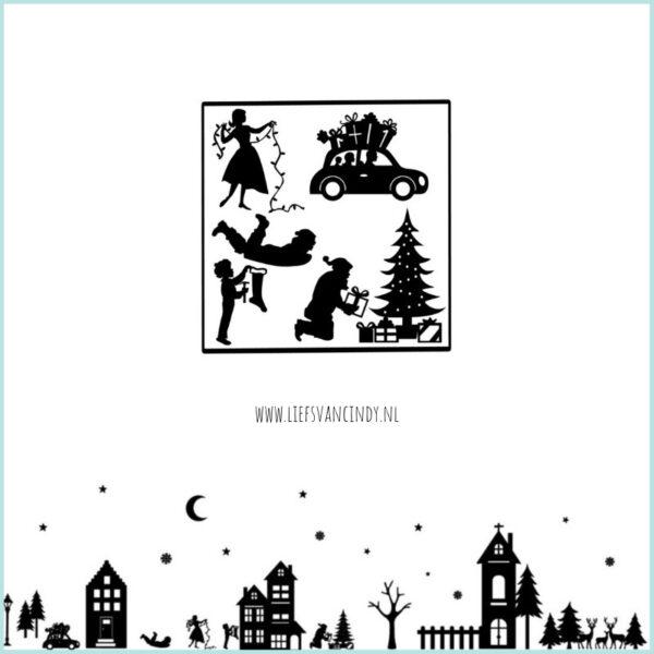 Raamstraatje kerst plaatjes