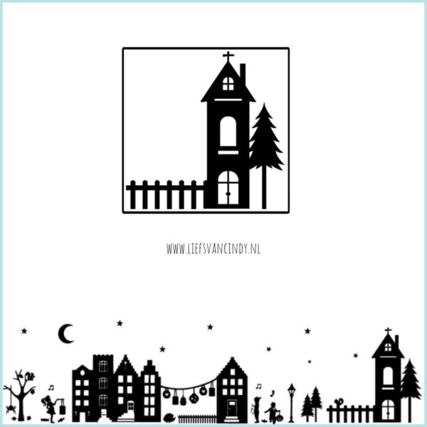Raamstraatje stickers kerk