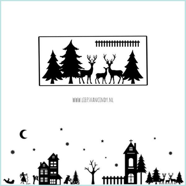 raamstraatje uitbreiding bomen en herten