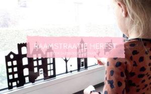 DIY Herfst raamstraatje, Raamstickers, sint maarten, najaar raamstraatje, leuk met kids