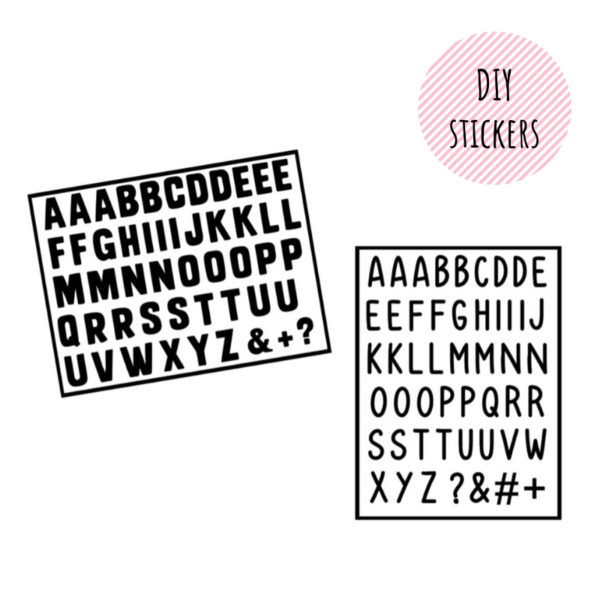 Losse letterstickers