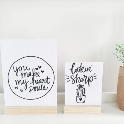 DIY Kaartenhouder met zelfgemaakte kaarten